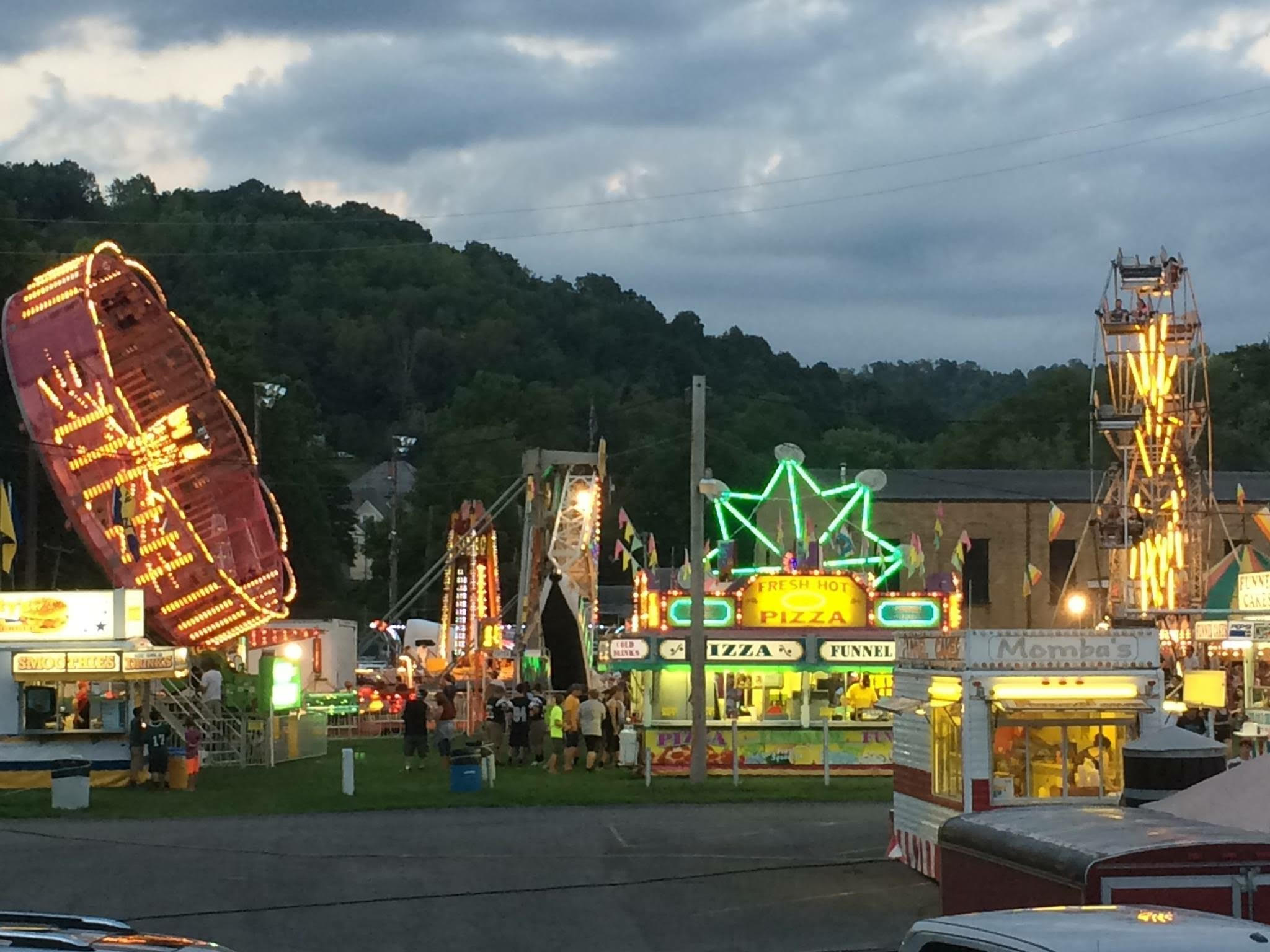 fair rides and carnival food